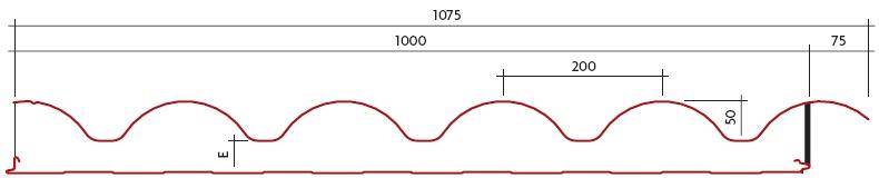 Panel Sándwich Cubierta DF-C3G (plano acotado)
